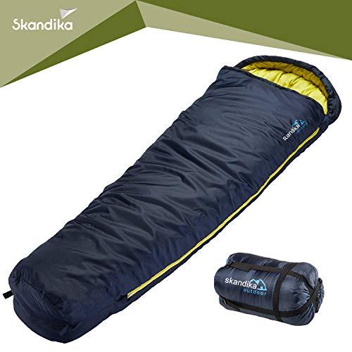 skandika Stornoway komfortabler Mumienschlafsack 230x80 cm koppelbar +10°C Innenfutter Baumwolle (RV Links) (Reißverschluss Links)