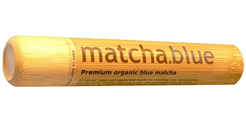 Premium Blue Matcha im Bambusrohr - Teepulver der Schmetterlingsblüte - 100% Natürliche Blaue Lebensmittelfarbe - Perfekt Für Getränke, Kuchen Und Kulinarische Köstlichkeiten