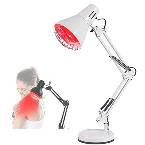 Dytxe-shelf 150 Watt Weit Infrarot Hitze Lampe/Infrarot-Wärmestrahler,Schmerzlinderung Physiotherapie,Weiß