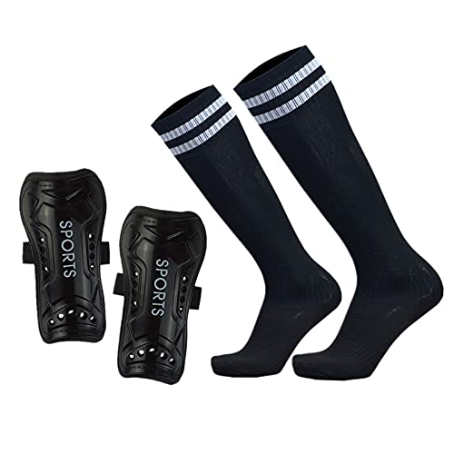 GeekSport Youth Soccer Shin Guards for Kids Toddler Shin Pads Calf Sleeves USA Soccer Gear for 3 5 4-6 7-9 10-12 Years Old Children Teens Boys Girls Black S 3'3-3'10 Tall