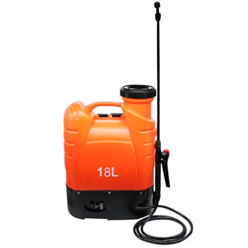 Beaugreen Battery Powered Backpack Sprayer Electric Sprayer with Heavy Duty Pump for Garden Lawn Agriculture Spray (4.8 Gallon/ 18L-Orange)