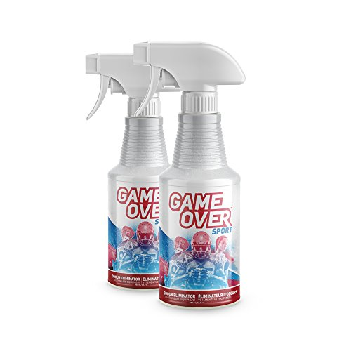 2 Pack - Biotech Odor Eliminator Spray - Made in Canada - For Feet Odor, Smelly Shoes, Clothes, Sport Equipment by Game Over Sport