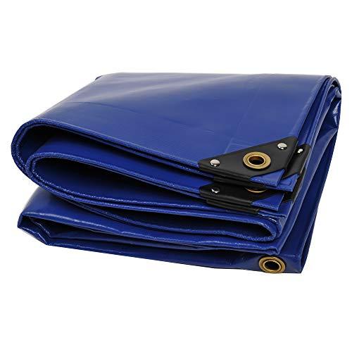 Nemaxx PLA36 Premium Abdeckplane 300x600 cm blau mit Ösen, 650 g/m² PVC wasserdicht&reißfest - hochwertige Plane universell für LKW, Pool, Holz Gartenmöbel - Abdeckung, Schutzplane, Gewebeplane, 18m²