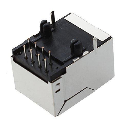 SODIAL(R) 15 pz 8 angolo Jack Pins RJ45 PCB rete Connettore femmina modulare
