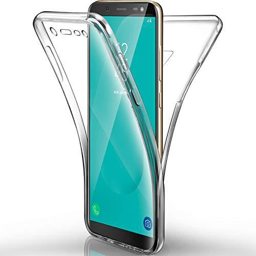 AROYI Samsung Galaxy J6 2018 Hülle Silikon,Samsung Galaxy J6 2018 Cover Transparent 360 Grad Hülle TPU Clear Handyhülle Ultra Dünn Schutzhülle für Samsung J6 2018