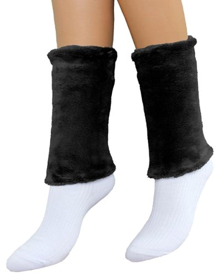 頑丈除去雪だるま天使のウォーマー 足首用 ブラック
