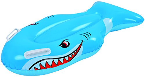 Jilong Shark Kickboard - Schwimmtier mit Haltegriffen, 100x54 cm