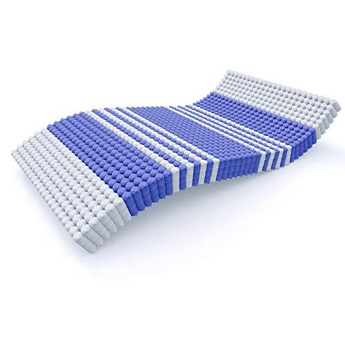 MSS TFK Premium 1000 Taschenfederkernmatratze 100x200 – 24 cm Premiumhöhe – 1100 Federn - Matratze mit antimikrobiellen Bezug 140 x 200 cm - Härtegrad H4