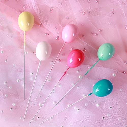 7thLake 10 Stücke Luftballons Cupcake Picks Alles Gute Zum Geburtstag Kuchen Topper Für Hochzeit Party Decor Farbe Zufällig