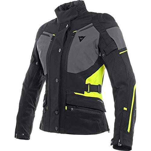 Dainese Carve Master 2 GTX - Chaqueta de moto con protectores para mujer, para todo el año negro/amarillo neón 48