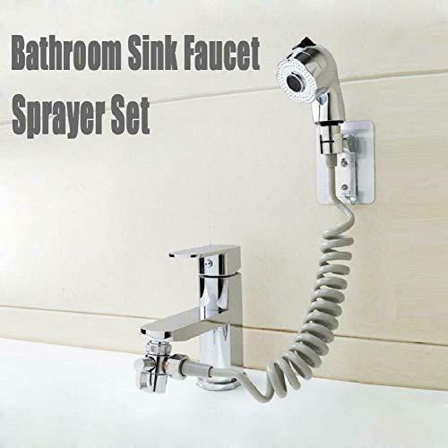 Bathroom Sink Faucet Sprayer Set set,Set di spruzzatori per rubinetto del lavandino del bagno,connessione per toccare la doccia portatile Kit 2 modalità(1,5 metri)