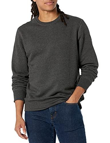 Amazon Essentials Men's Long-Sleeve Crewneck Fleece Sweatshirt, Charcoal Heather, X-Large