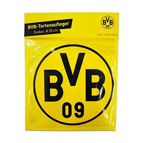 Borussia Dortmund Logo BVB 09 Tortenaufleger, Cake Toppers, essbare Torten Auflage- Plus gratis Aufkleber Dortmund Forever