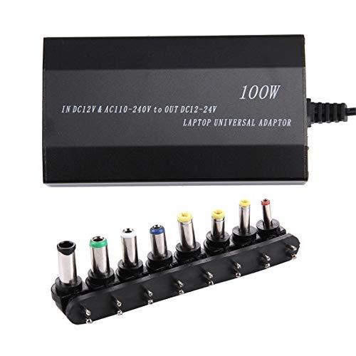 Adaptador de corriente Laptop Notebook Power 100W Cargador universal con cargador de coche y adaptador de CA y 8 adaptadores de corriente y 1 puerto USB for Samsung, Sony, Asus, Acer, IBM, HP, DELL Ad