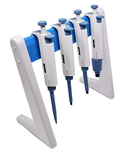 Soporte de micropipeta/pipeta lineal y estante, capacidad para 6 pipetas