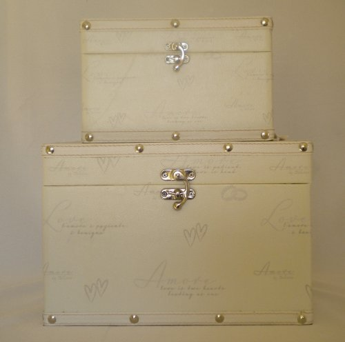 Amore wedding keepsake luggage trunks set of 2 by Weddings @ Occasions Direct