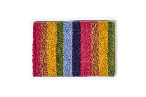 Alfombra baño para ducha y exterior, de algodón suave muy absorbente, Fabricada a Mano en España, Artesanal, lavable en lavadora y secado rápido (Multicolor)