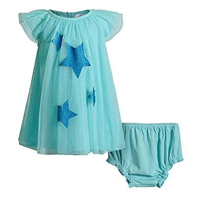 Sweet Heart Rose Baby Girls Trapeze Dress, Aqua, 18MO
