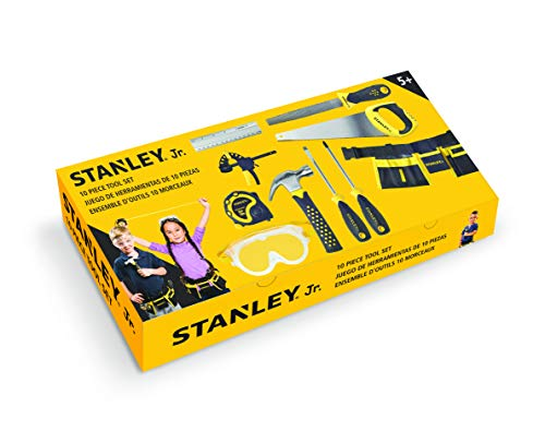 Stanley Jr. 10-Piece Kids Tool Set with...