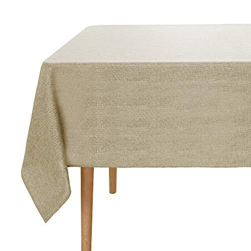 Amazon Brand – Umi Mantel Mesa Rectangular de Efecto Lino 130x280cm Lino