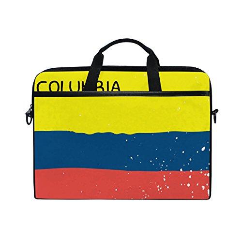 Bandera de Columbia desgastada 14 Pulgadas Laptop Bolsa de Mensajero con asa...