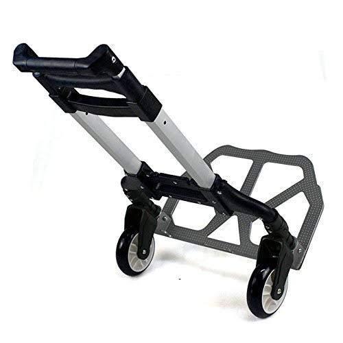 V-Zone Gujju Shop Multi-Functional Foldable Aluminium 80 Kg Movement Hand Trolley for Luggage