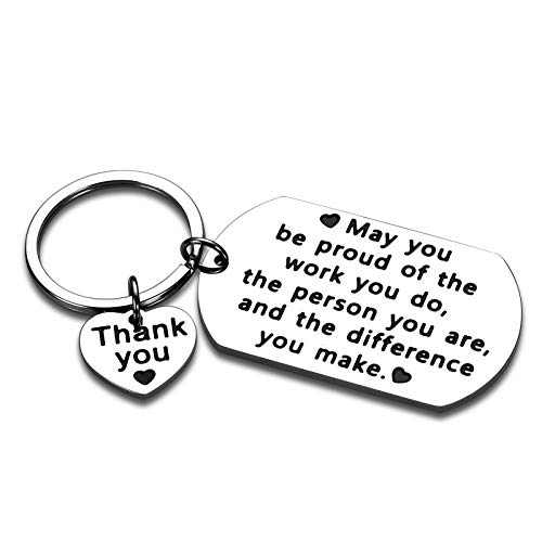 Coworkers Boss Colleagues Friend Keychain Gifts Leaving Going Away Farewell Good Bye Retirement Thank You Appreciation Birthday Work Office Holiday Christmas Gifts Women Men Female Male Inspirational