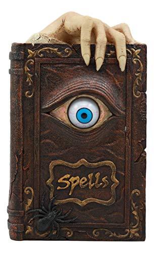 Ebros Witchcraft Sorcery Lifelike Evil Eye Book of Spells Money Bank Figurine Decor Statue 8.5' Tall
