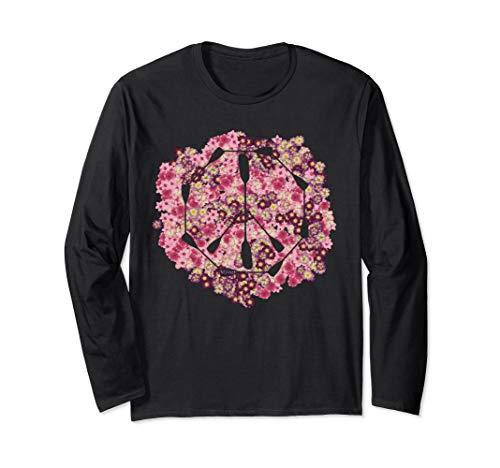 Kanu, Kajak, Kanadier und Paddeln, Paddel Peace T-Shirt. Langarmshirt