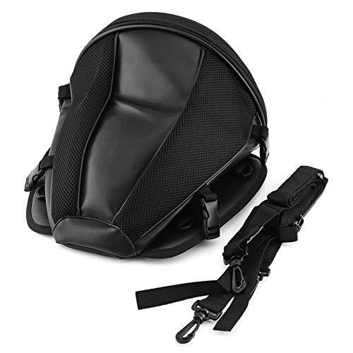 Bolsa de asiento trasero de motocicleta, Deportes de bicicleta de motocicleta Asiento trasero impermeable Bolsa negra de almacenamiento Alforja portátil