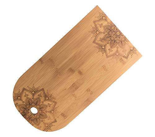 Tabla de queso de madera de bambú Tabla para servir (bambú, cortada con láser