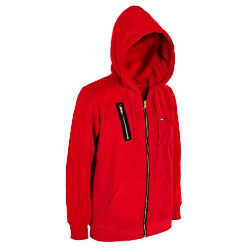 CoolChange Bankräuber Kapuzen Pullover im Overall Design I de Papel Jacke I Größe: S