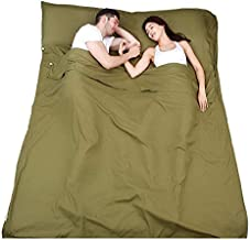Charhoden SQ-169-G TXZ-0121 sleeping Bag Liner, Soft Travel Camping Sheet with Zipper on the Bottom-Compact Sleep Sheet wi...
