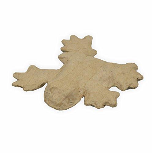 Papp Figur Frosch 15 x 13 x 3 cm zum bemalen und bekleben
