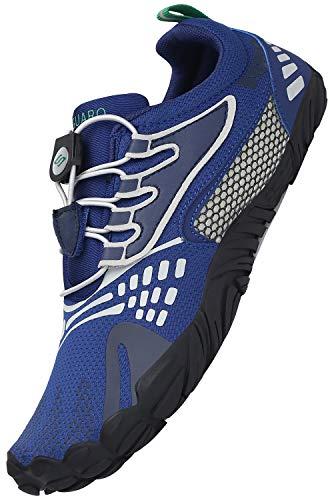 SAGUARO Adulto Zapatos Descalzos Hombre Mujer Zapatillas Minimalistas Zapatillas de Trail Running Exterior Zapatos de Playa, Azul 39