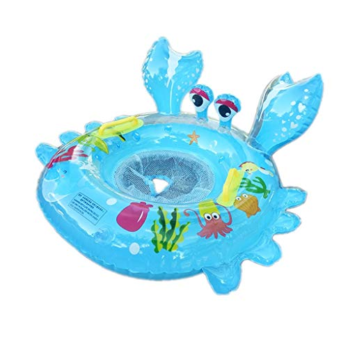 Opblaasbare zwembadhangmat Crab Swimming Ring 1-3 jaar oude baby zwemmen Ring Environmental Protection Verdikte PVC Animal Kussen Color Box Floating Toys drijvende waterhangmat
