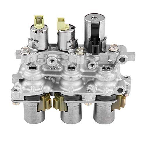 Paquete de bloque de solenoide Qiilu, paquete de bloque de solenoide de transmisión de hierro para cuerpo de válvula inferior 5 velocidades Automat 4F27E