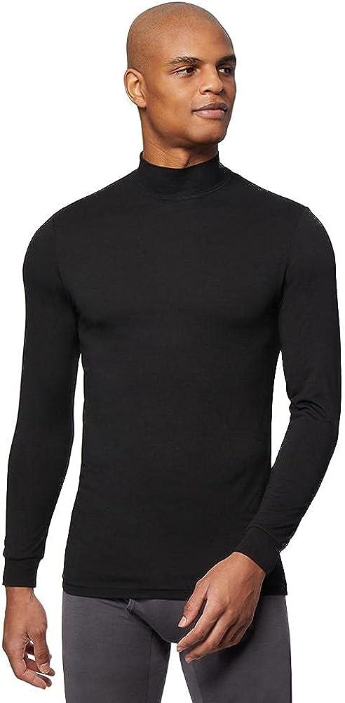 32 DEGREES Heat Mens Performance Thermal Lightweight Baselayer Mock Top Long Sleeve Top