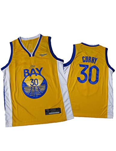 FDSNFV Hombre Jersey Ropa de Baloncesto # 30 Curry Uniforme de Baloncesto Malla Jersey Camiseta de Basketball Jersey