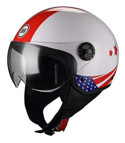 BHR 33361 Casco Moto Demi-Jet Linea One 801, Bandera USA, S (55/56 cm)