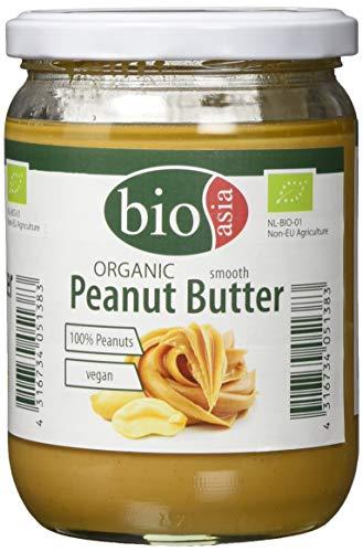 BIOASIA Bio Erdnussbutter, 2er Pack (2 x 500 g)