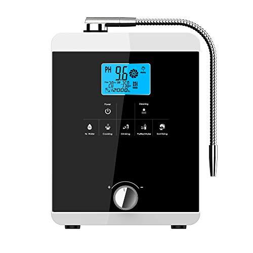 Water ionisator, Hydrogen Alkaline Acid Water Maker Machine Generator, thuis Water Filter, Japan geïmporteerde ionische membraan, 8000 Liter per Filter, Auto-Cleaning, PH 3-11