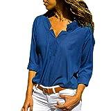 Feytuo Damen T-Shirt Große Größen,Oberteile Seidensticker Coole KurzÄrmelig Weiss Sexy Weiß Schwarz Mit Schleife Blau Kurz Rosa Collection Aus Leine Rot Lange Elegante