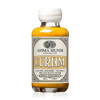 Anima Mundi Curam Organic Beauty Elixir - Liquid Turmeric Tincture - Adaptogenic Liquid Herbal Tincture with Organic Turmeric Root Extract - Add to Tea, Coffee, Smoothies and More (4oz / 118ml) from Anima Mundi Apothecary