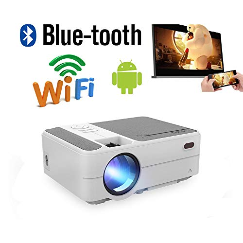 Mini WiFi portátil Proyector Bluetooth LED LCD HD Smart Android ...