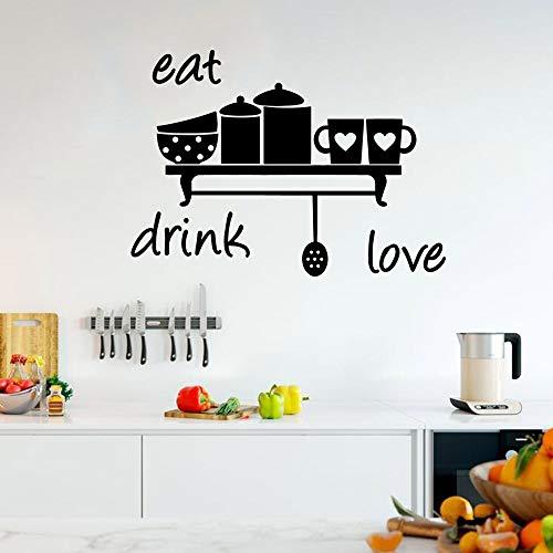 AQjept Etiqueta de la Pared Creativa Vinilo Impermeable decoración del hogar Restaurante niños habitación Arte mural64x87cm