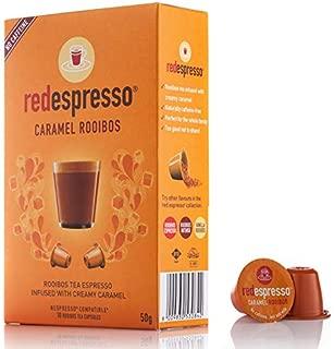 Red Espresso - Caramel Rooibos Tea Capsules - Nespresso Compatible - Vegan, Non GMO, Organic, Antioxidant, Age-Defying (10 Capsules)