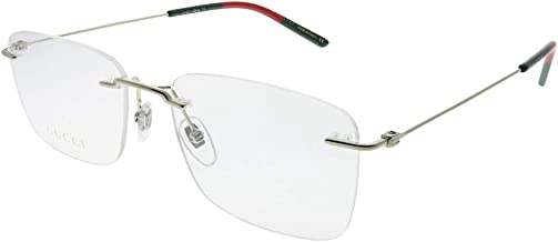Gucci GG0399O Refined Rimless Rectangular Eyeglasses 56mm