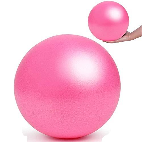 Xinmeng Pelota de yoga o pilates, 25 cm, pequeña, pelota de ejercicios de yoga, gruesa, antipinchazos, con tubo de aire, para fitness, rehabilitación, entrenamiento de espalda (rojo)