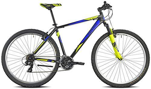 Esperia 107500U Seattle, Bicicletta Uomo, Nero/Blu/Giallo, M